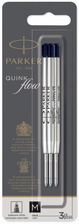 Стержни для шариковой ручки 3шт. Цвет черный , толщина линии М, в блистере. Франция
