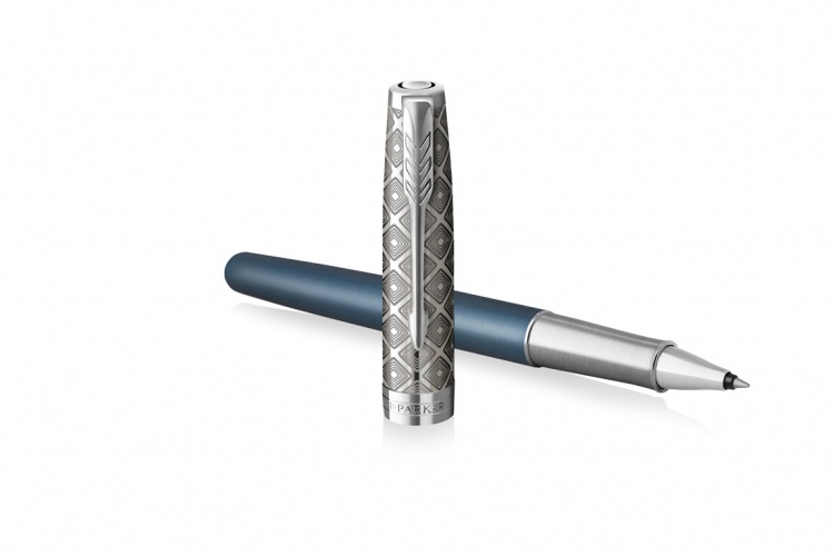 Ручка-роллер Parker Sonnet Premium Refresh BLUE, цвет чернил Fblack, в подарочной упаковке