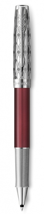 Ручка-роллер Parker Sonnet Premium Refresh RED, цвет чернил Fblack,  в подарочной упаковке