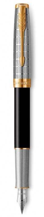 Перьевая ручка Parker Sonnet Premium Refresh BLACK, перо 18K, толщина F, цвет чернил black, в подарочной упаковке