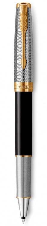 Ручка-роллер Parker Sonnet Premium Refresh BLACK, цвет чернил Fblack, в подарочной упаковке