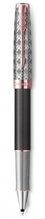 Ручка-роллер Parker Sonnet Premium Refresh GREY, цвет чернил Fblack, в подарочной упаковке
