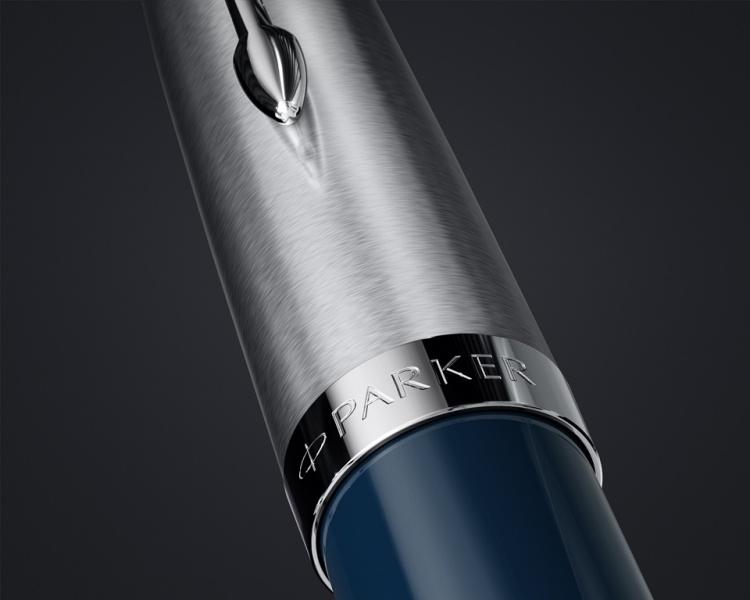 Шариковая ручка Parker 51 CORE MIDNIGHT BLUE CT, цвет чернил черный