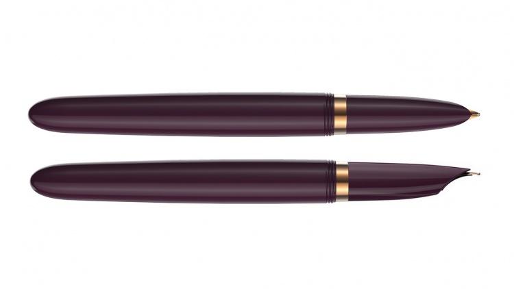 Перьевая ручка Parker 51 DELUXE PLUM GT, перо F