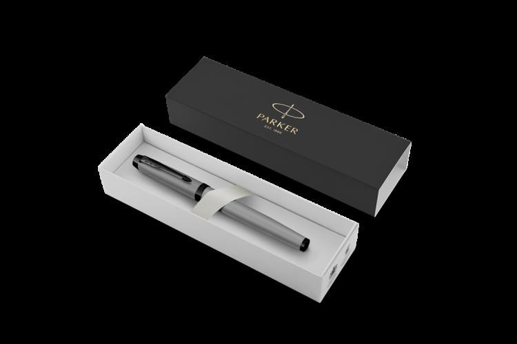 Перьевая ручка Parker IM MGREY BT  F в подарочной упаковке