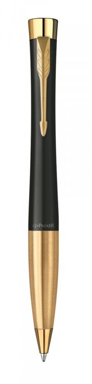 Шариковая ручка Parker Urban Muted Black Gold Finish Trim M Blue