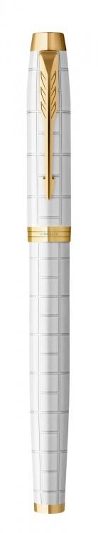 Ручка перьевая Parker IM Premium F318  Pearl GT, перо F сталь нержавеющая, в подарочной коробке