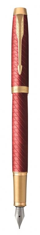 Ручка перьевая Parker IM Premium F318  Red GT, перо F сталь нержавеющая, в подарочной коробке
