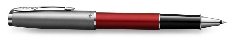 Ручка роллер Parker Sonnet T546  Red CT F черные чернила, в подарочной коробке