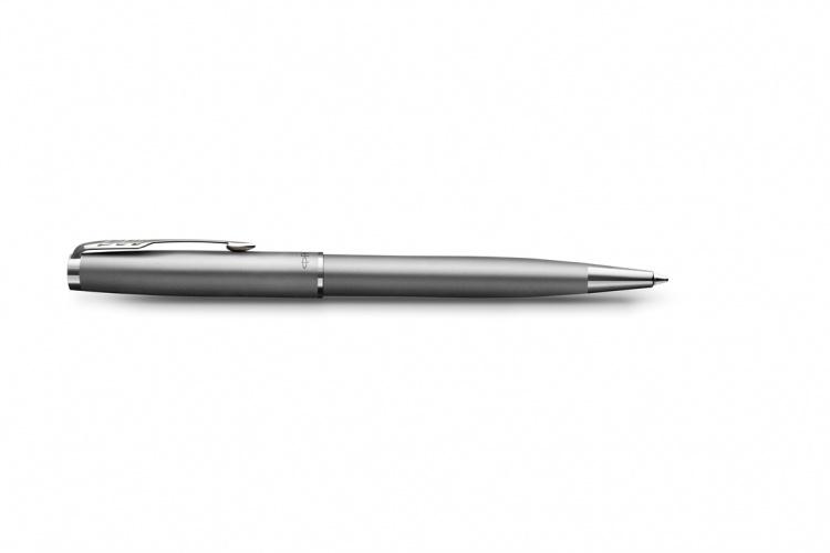 Шариковая ручка Parker Sonnet Stainless Steel , толщина линии M, цвет чернил черный, в подарочной упаковке