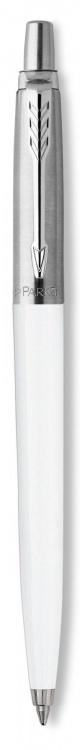 Шариковая ручка Parker Jotter K60, цвет: White, стержень: Mblue