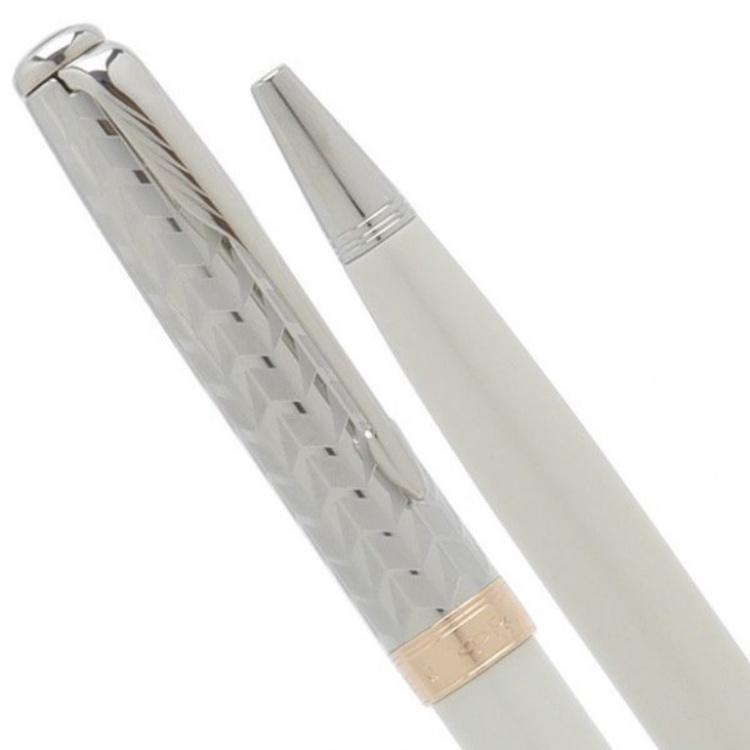Шариковая ручка Parker Sonnet`11 Pearl CT K540, цвет: жемчужный/металлический, стержень: Mblack