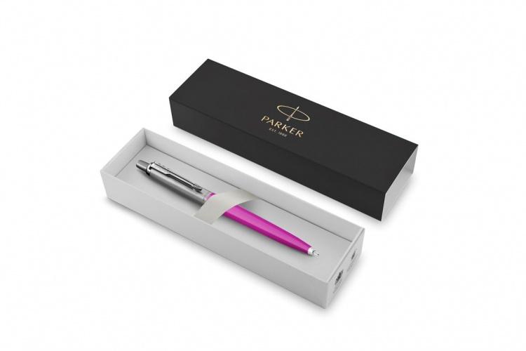 Шариковая ручка Parker Jotter, цвет MAGENTA, цвет чернил синий, толщина линии M , в подарочной коробке