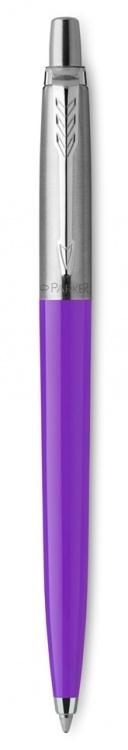 Шариковая ручка Parker Jotter, цвет FROSTY PURPLE, цвет чернил синий, толщина линии M , в подарочной коробке