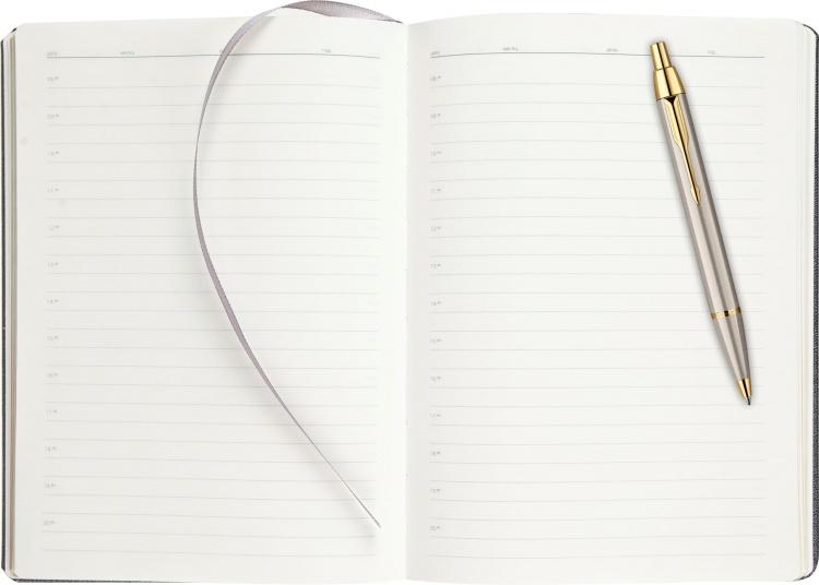 Подарочный набор Parker: шариковая ручка Parker IM Brushed GT и ежедневник серебристого цвета