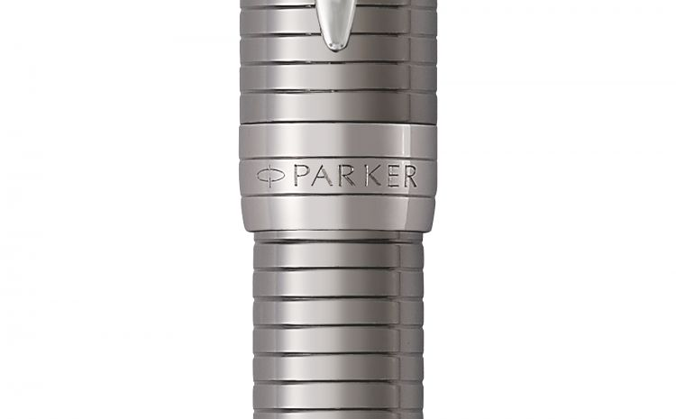Перьевая ручка Parker Duofold Prestige Centennial, Ruthenium Chiselled CT, перо: F