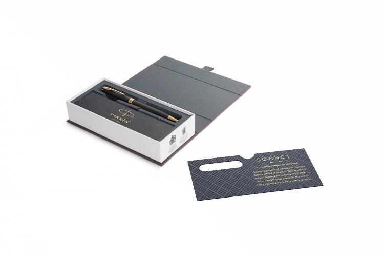 Шариковая ручка Parker Sonnet , Matte Black GT