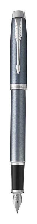 Подарочный набор: Перьевая ручка Parker IM Metal Light Blue Grey CT и Ежедневник недатированный черный