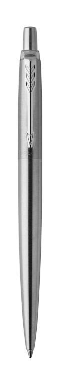 Подарочный набор: Шариковая ручка Parker Jotter Essential, St. Steel СT, стержень: Mblue и Ежедневник недатированный черный