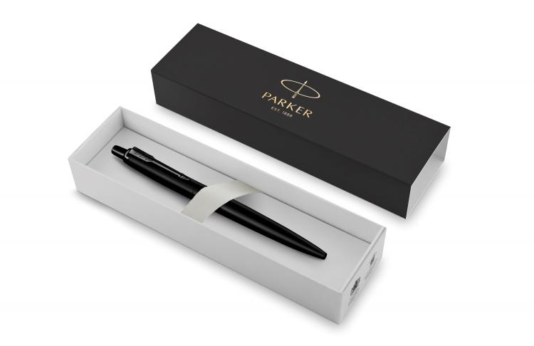 Подарочный набор: Шариковая ручка Parker  Jotter XL SE20 Monochrome в подарочной упаковке, цвет: Black, стержень: Mblue и Ежедневник зеленый недатиров