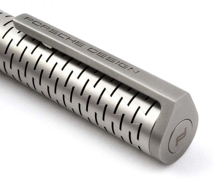 Ручка шариковая Pelikan Porsche Design Laser Flex P`3115  серебристый подар.кор.