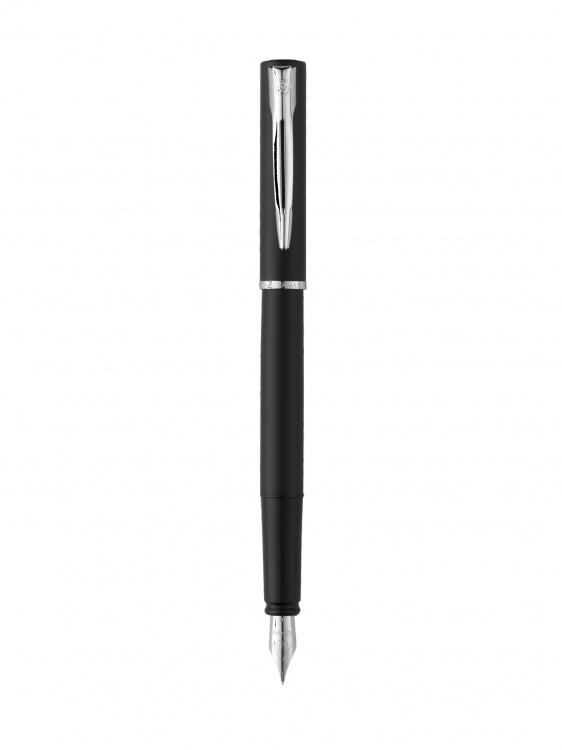 Подарочный набор Перьевая ручка Waterman GRADUATE ALLURE, цвет: черный, перо: F с чехлом Waterman