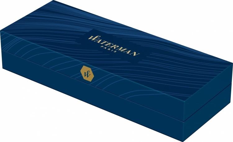 Подарочный набор Шариковая ручка Waterman Hemisphere Entry Point Stainless Steel with Black Lacquer с чехлом Waterman