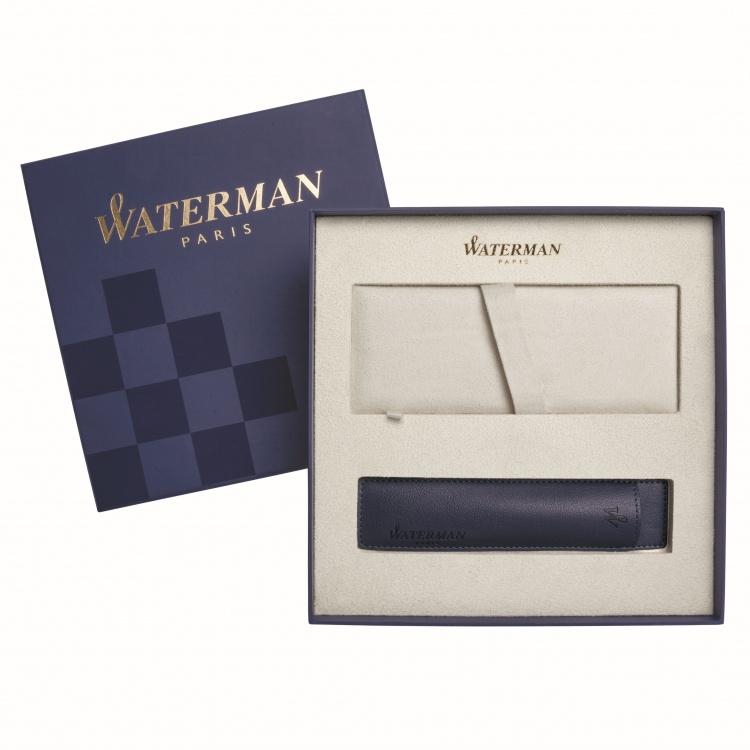 Подарочный набор Шариковая ручка Waterman Hemisphere, цвет: MattBlack CT, стержень: Mblue с чехлом Waterman