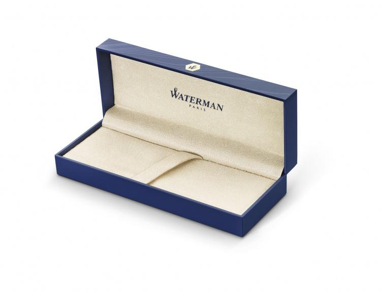 Подарочный набор Шариковая ручка Waterman Perspective, цвет: Silver CT, стержень Mbue с чехлом