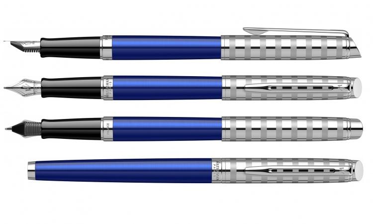 Ручка перьевая Waterman Hemisphere French riviera Deluxe BLU LOUNGE в подарочной коробке