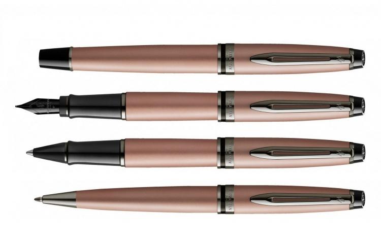 Перьевая ручка WatermanExpert Rose Gold F BLK в подарочной упаковке
