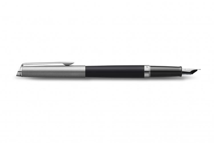 Перьевая ручка Waterman Hemisphere Entry Point Stainless Steel with Black Lacquer в подарочной упаковке