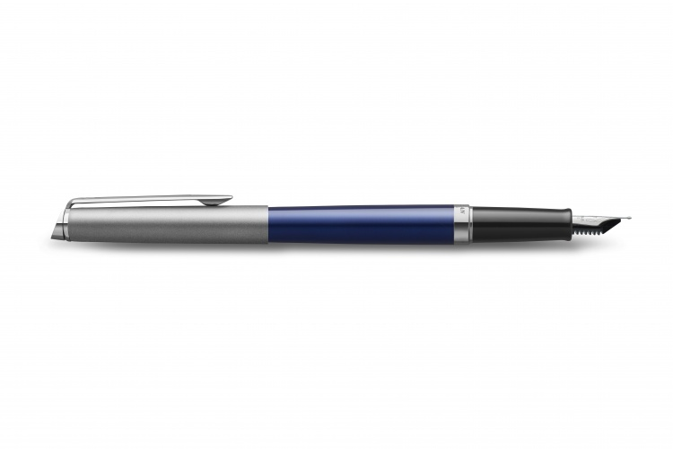 Перьевая ручка Waterman Hemisphere Entry Point Stainless Steel with Blue Lacquer в подарочной упаковке