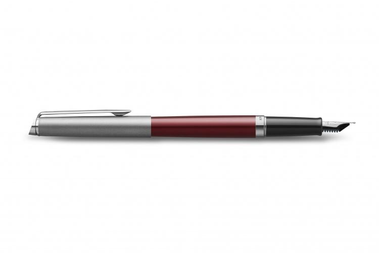 Перьевая ручка Waterman Hemisphere Entry Point Stainless Steel with Red Lacquer в подарочной упаковке