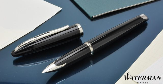 Перьевая ручка Waterman Carene, цвет: Black ST, перо: F