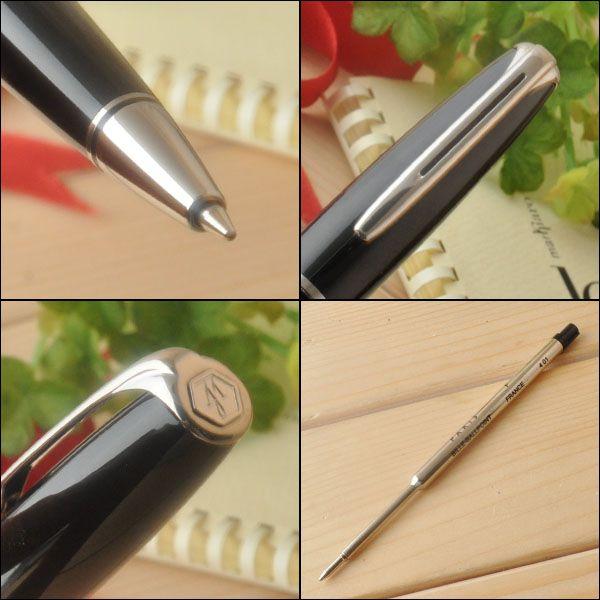 Шариковая ручка Waterman Charleston, цвет: Black/CT, стержень: Mblue