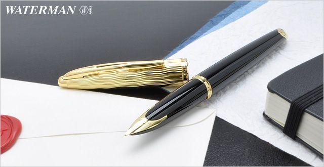 Перьевая ручка Waterman Carene Essential, цвет: Black GT, перо: F