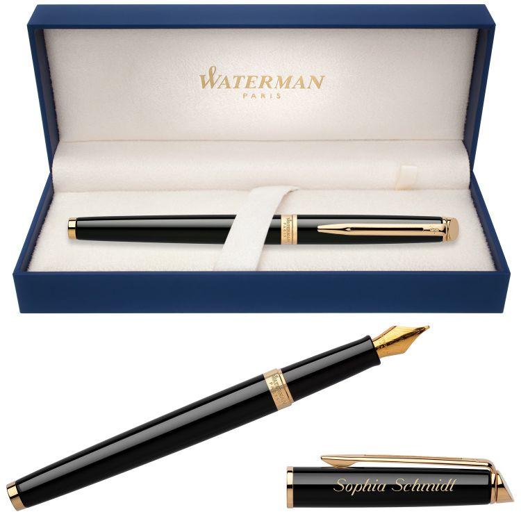 Перьевая ручка Waterman Hemisphere, цвет: Mars Black/GT, перо: F