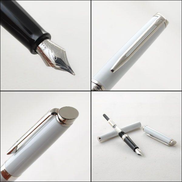 Перьевая ручка Waterman Hemisphere, цвет: White CT, перо: F