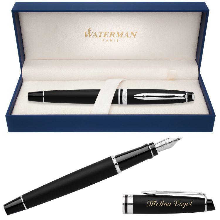 Перьевая ручка Waterman Expert 3, цвет: Matte Black CT, перо: F