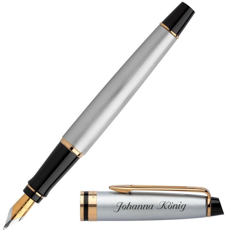 Перьевая ручка Waterman Expert 3, цвет: Stainless Steel GT, перо: F