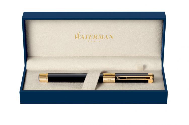Перьевая ручка Waterman Perspective, цвет: Black GT, перо: F