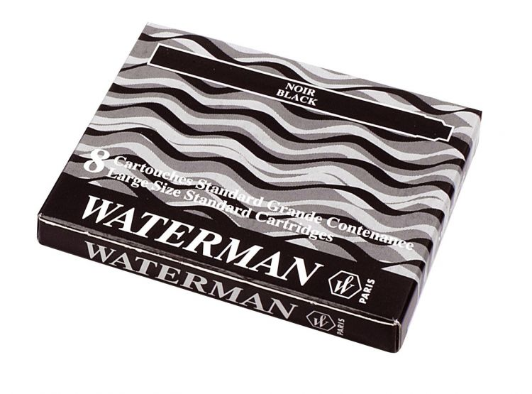 Чернила в картридже З/ч. Waterman Ink cartridge Standard Black  (в упаковке 8 картриджей)