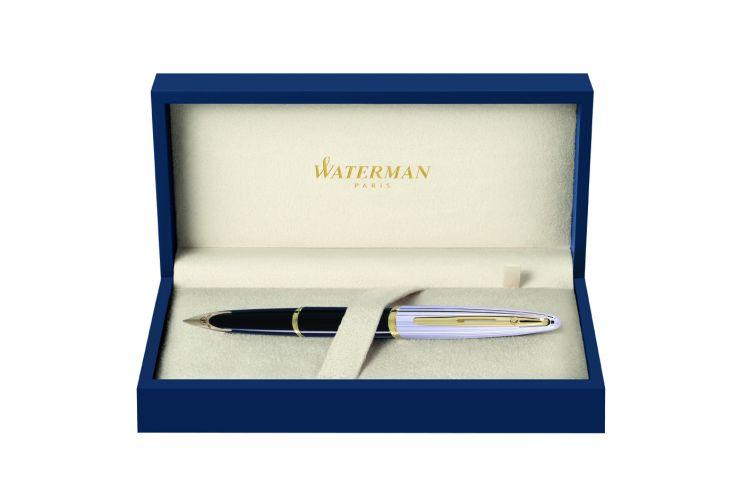 Перьевая ручка Waterman Carene, цвет: Black/Silver, перо: F