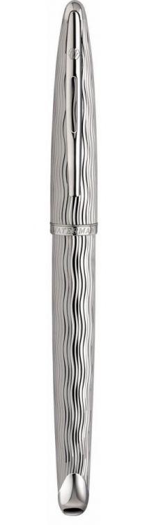 Ручка-роллер Waterman Carene Essential, цвет: Silver ST, стержень: Fblack