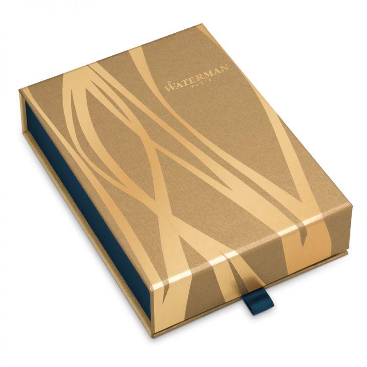 Набор с гравировкой: Чехол и Шариковая ручка Waterman  Hemisphere Essential, St. Steel GT