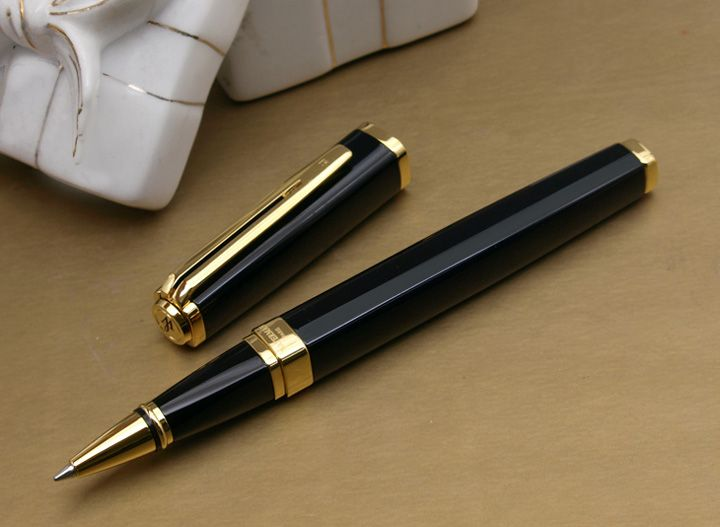 Ручка-роллер Waterman Exception, цвет: Slim Black GT, стержень: Fblk (TF)