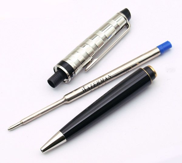 Шариковая ручка Waterman Expert 3 DeLuxe, цвет: Black CT, стержень: Mblu