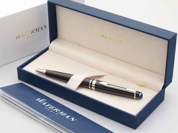 Шариковая ручка Waterman Expert 3, цвет: Black CT, стержень: Mblu