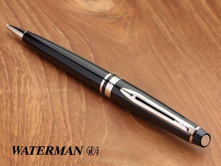 Подарочный набор Шариковая ручка Waterman Expert 3 Essential, Laque Black CT  с чехлом